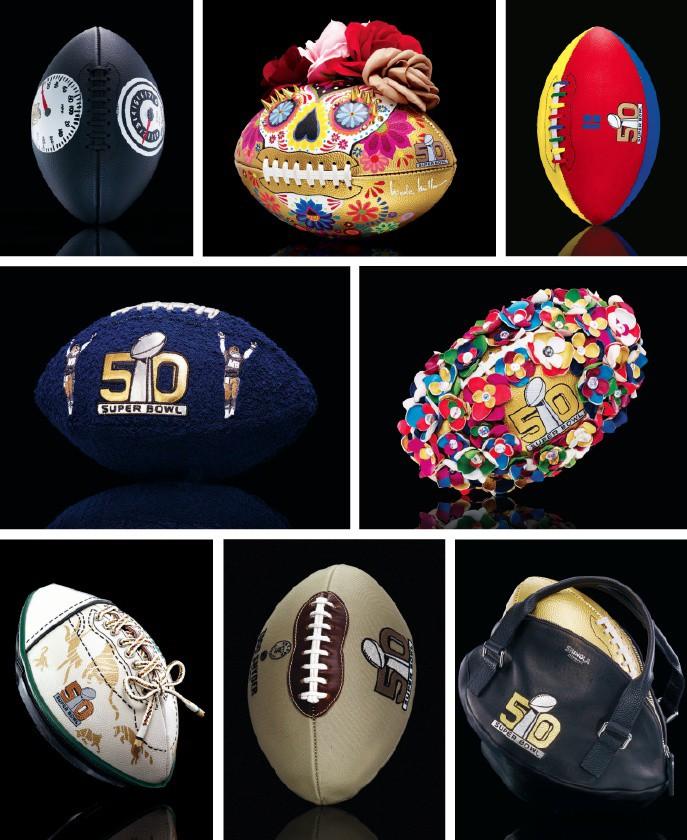 CFDA + NFL SUPER BOWL 50 DESIGNER FOOTBALLS 24948b8d7